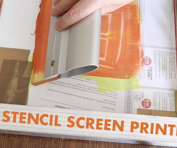 Easy Stencil Screen Printing