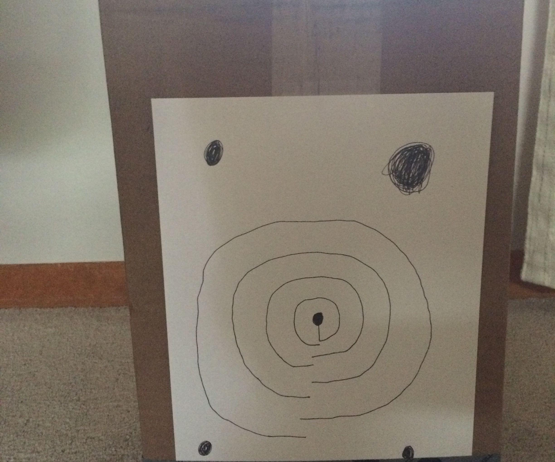Cardboard bow target