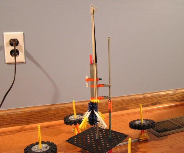 K'nex Rocket  W/ Launching Pad