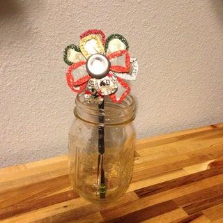 Recycled Bottle Cap Flower Tutorial