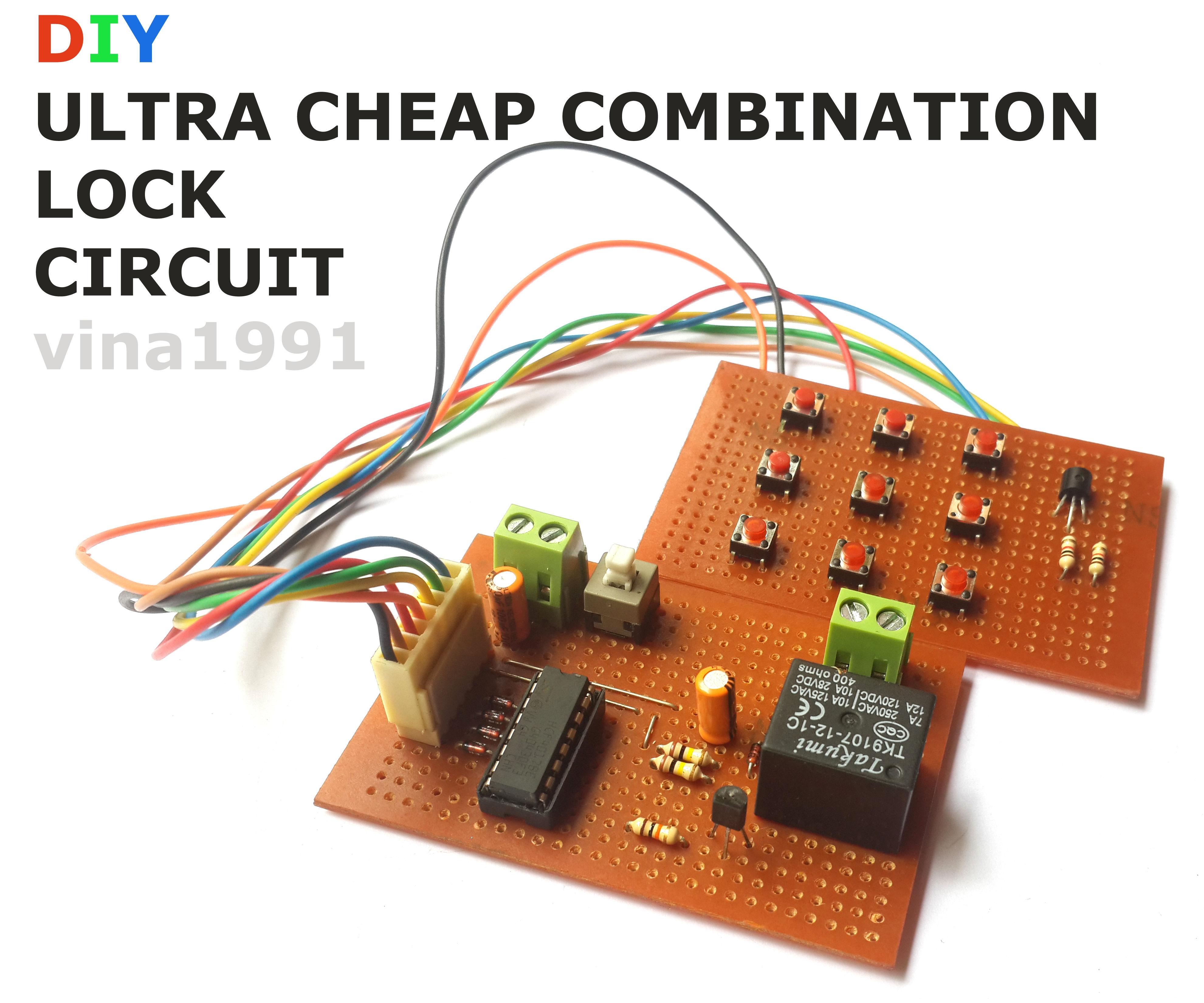 DIY ULTRA CHEAP COMBINATION LOCK