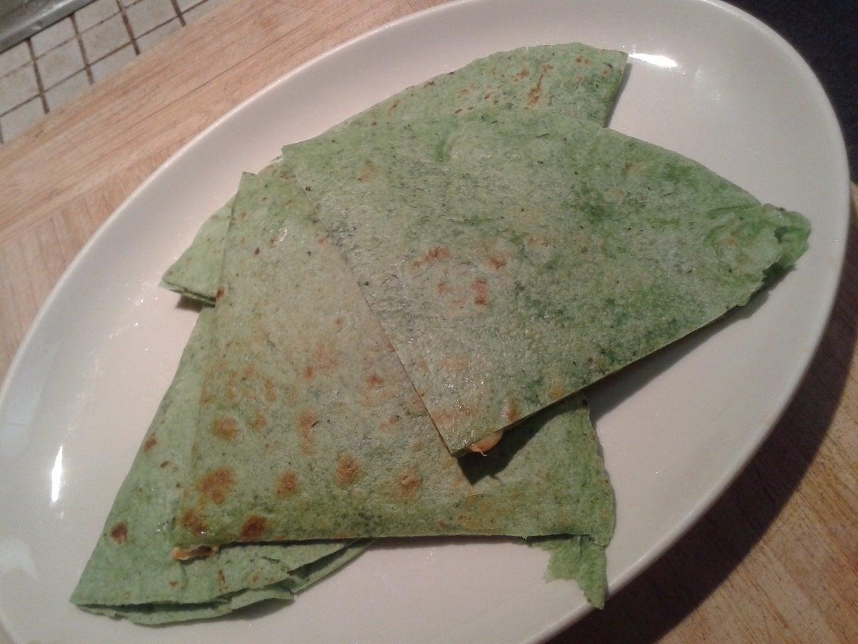 Spicy Spinach Quesadilla