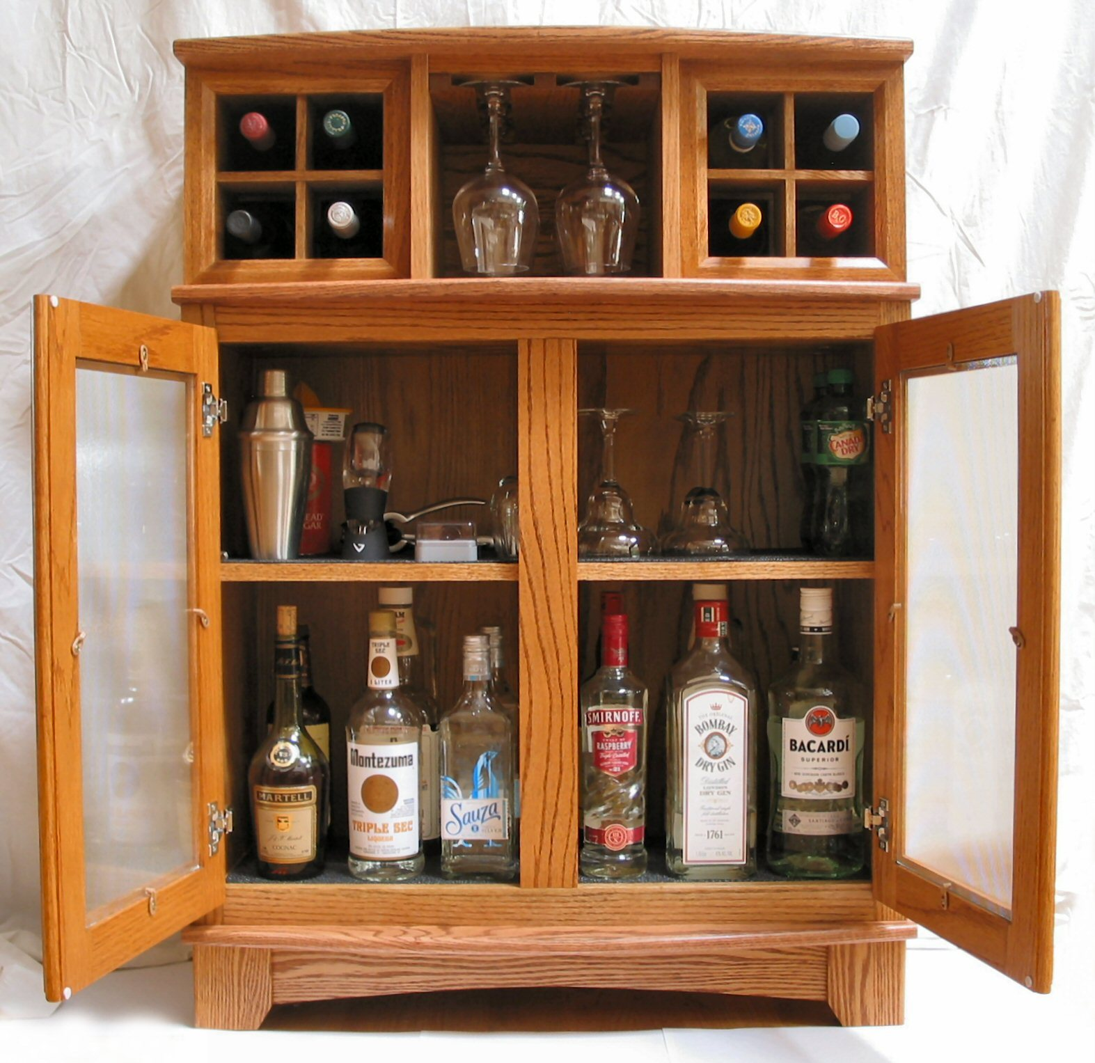 How To Build A Custom Wine Liquor Cabinet 7 Steps With Pictures Instructables