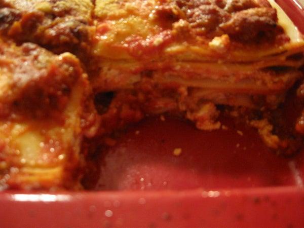 Fresh Fast Fantastic Meat Lasagna