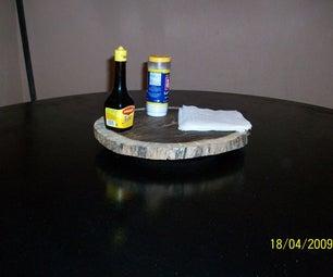 Reclaim Wood Rotating Tray. (Lazy Susan)