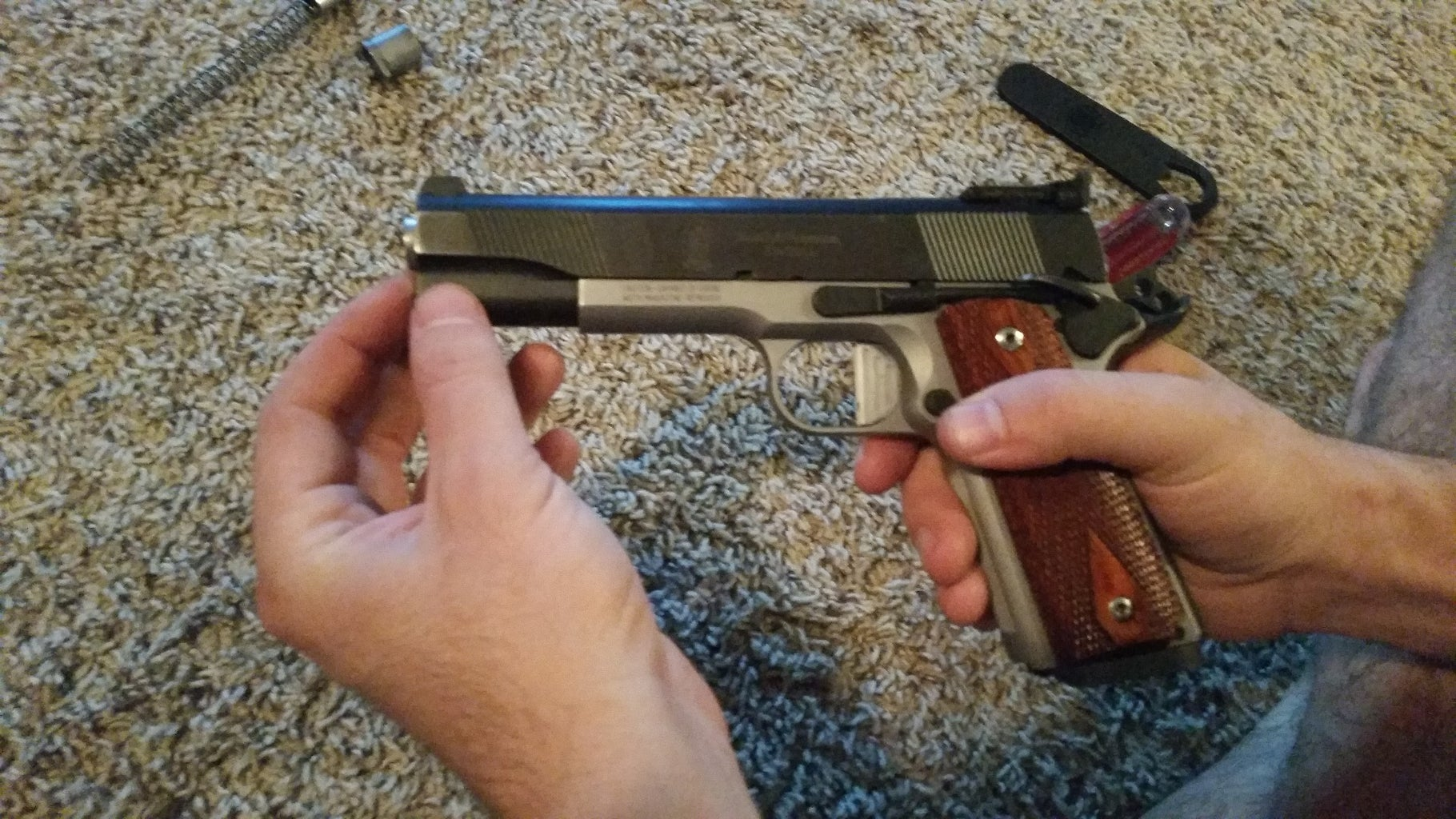 Installing the Spring and Barrel Lock