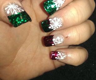 Easy Snowflake Nail Art