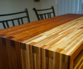 Pallet Wood Butcherblock Countertop That Pivots! (bar Top ➔ Dining Table)