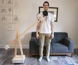 Concrete & Wood Counterweighted Mic Stand