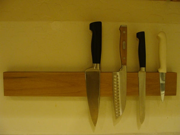 Magnetic Knife Rack Built Using Hard Drive Magnets (without Power Tools)