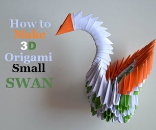 Modular 3D Origami Swan