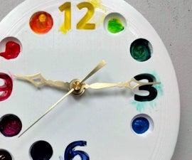 DIY Artist Paint Palette Clock