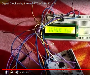 Digital Clock Using Internal RTC of STM32L476