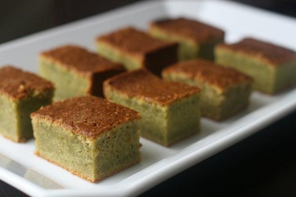 Green Tea Mochi Cake