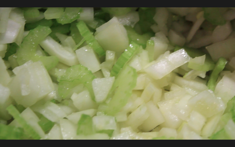 Brown Your Onions, Garlic, Celery and Ham