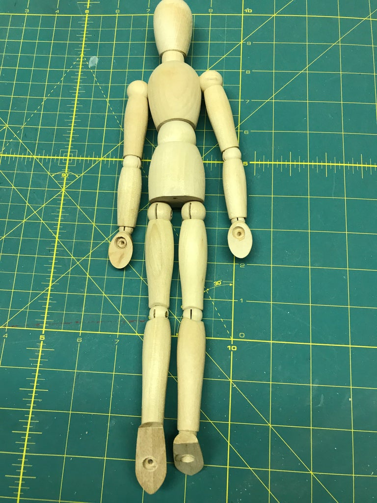 Drill the Holes in the Figure.