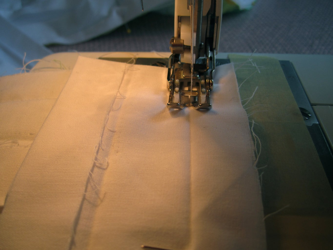 Sewing the Binding, the Backside.