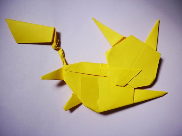 How to Make an Origami Flying Pikachu!