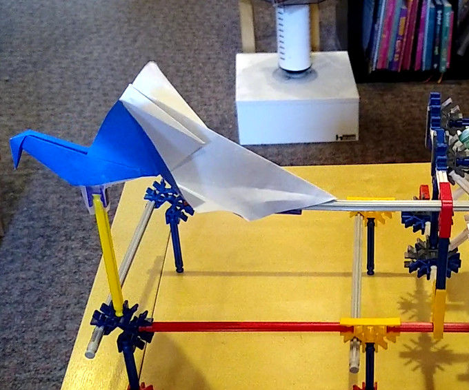 Knex and Origami Flapping Bird Automata