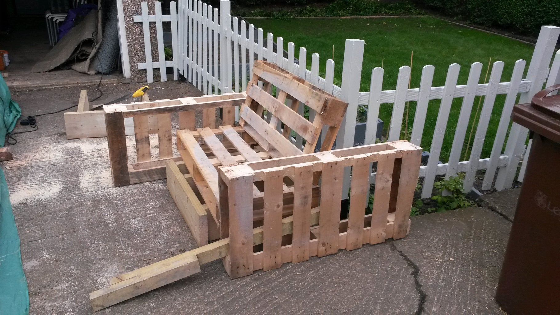 Cut the Two Pallets in Half