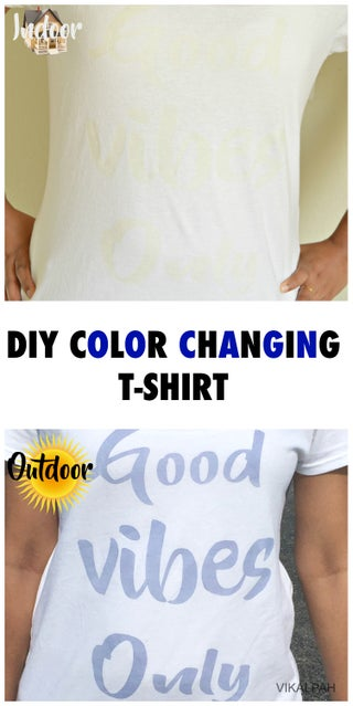 Diy Color Changing T Shirt 7 Steps With Pictures Instructables