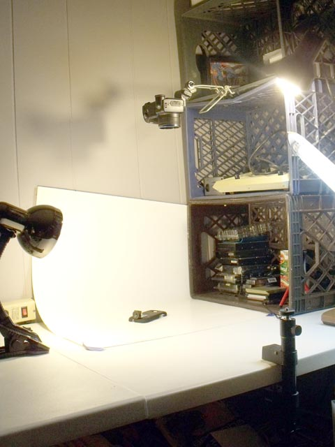 How to put together a cheap photo stand for great photos (documenting projects, eBay, collections, etc.)