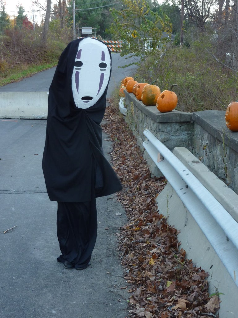 No Face From Spirited Away Costume 9 Steps With Pictures Instructables