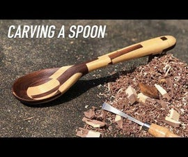 Pixelated Wooden Spoon Carving