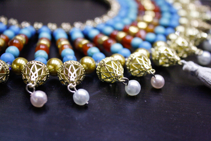 Egyptian-Style Broad Collar in Gold and Gemstones
