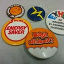 Convert pin badges to fridge magnets