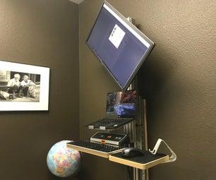 Motorized Sit or Stand, Landscape or Portrait Monitor (Arduino + Autohotkey)