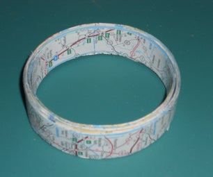 Recycled Map Bangle