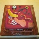 STEAMPUNK STYLE FONDANT CAKE