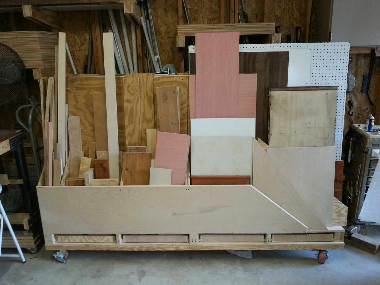 Lumber Storage Cart With Drawers