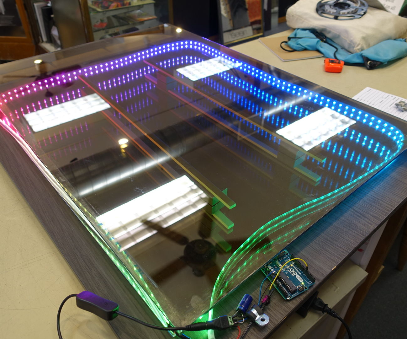 Make a Programmable RGB LED Infinity Mirror with Arduino