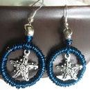 Starfish charm earrings