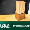 DIY Wood Veneer Light