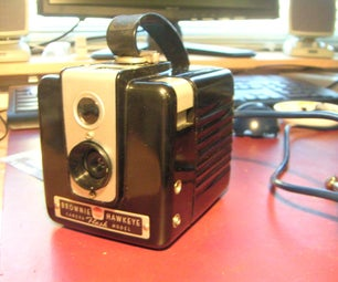 Webcam in a Hawkeye Brownie Camera