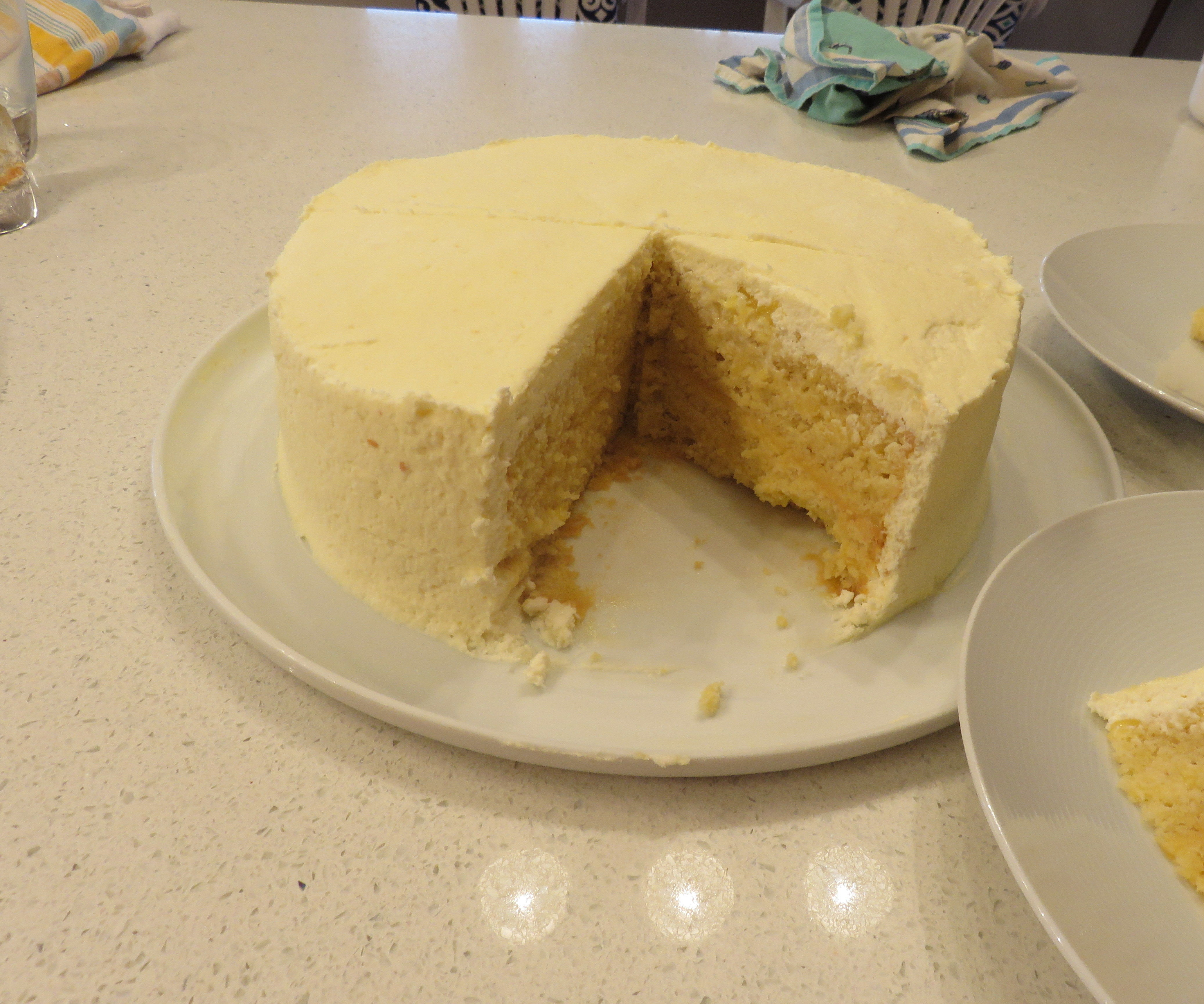 European Style Flourless Lemon-White Chocolate Cake