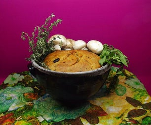 Spring Herbal Bread - in a Pot - Very Aromatic and Healthty