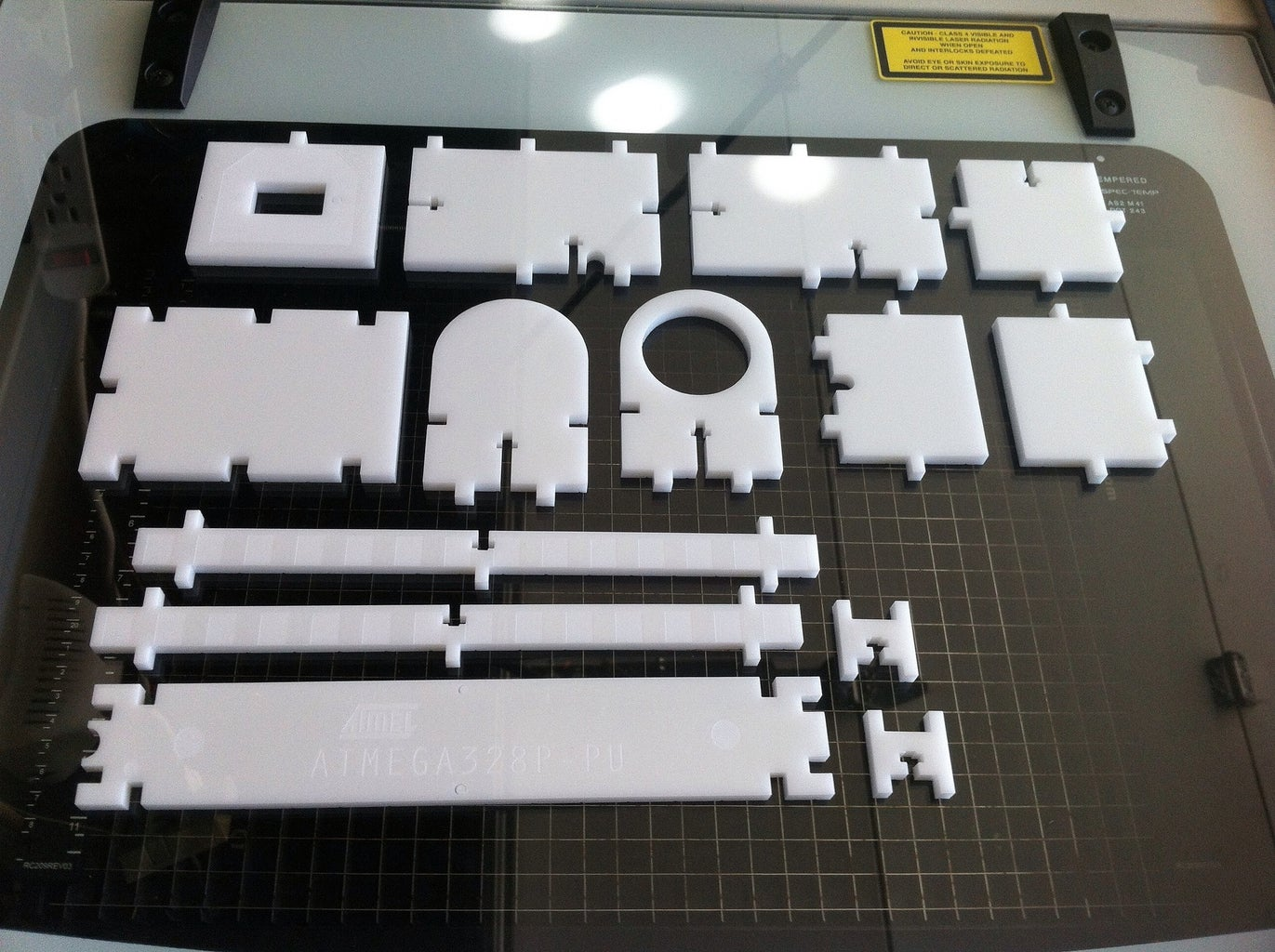 Laser Cut USB Jack, Power Jack, Atmega 328p