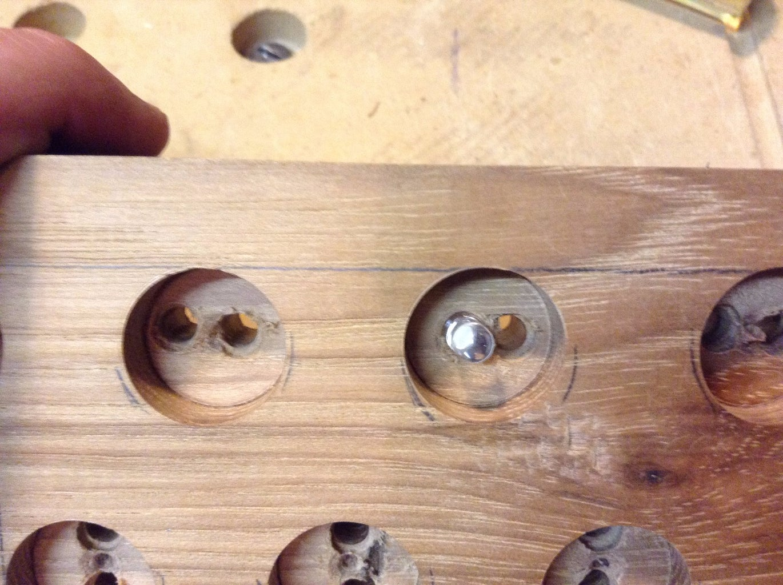 Drill Holes for LEDs and Shotgun Shells