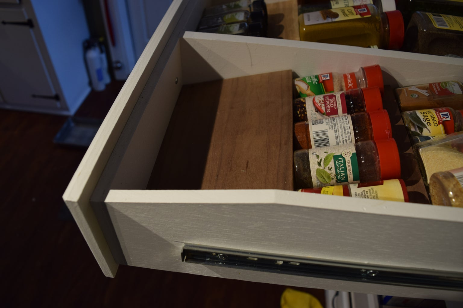 Soup Can Rack and a Spice Rack in a Drawer