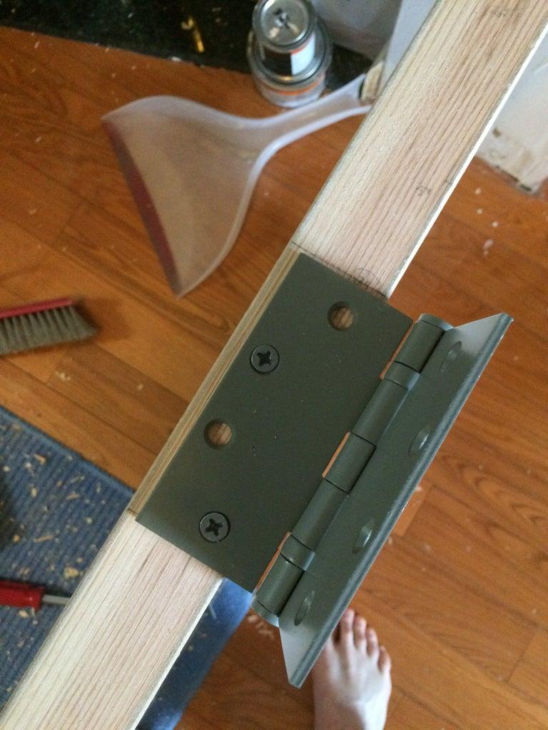 Put Up the New Door & Hinges