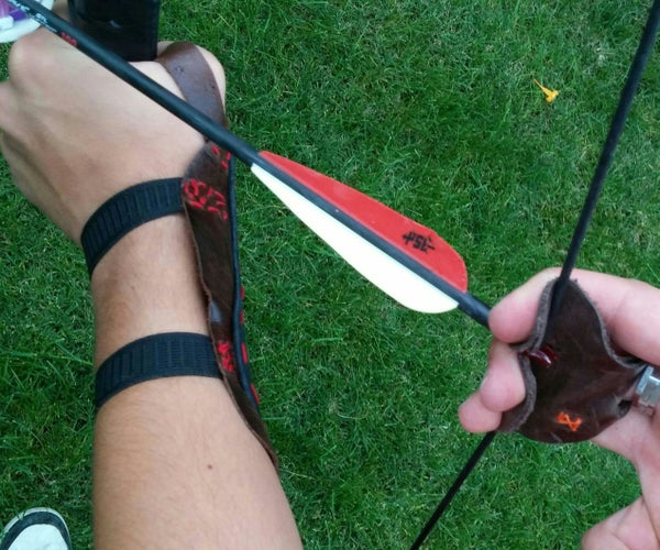 Archery Leather Armguard and Finger Tab