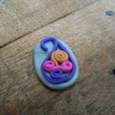 Quilled Clay Pendant!