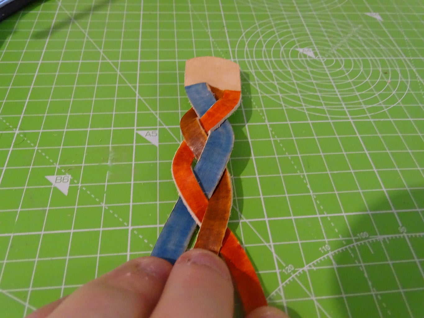 Braid Step 8: Right to the Middle