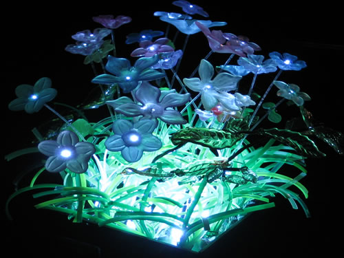 Fiber Optic and LED Minature Garden Light