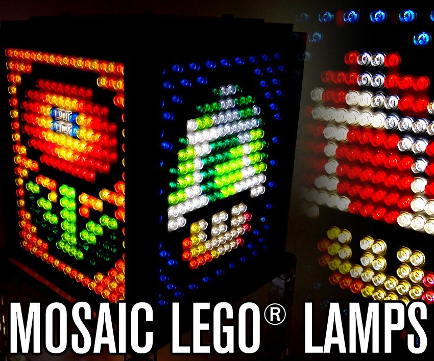 Mosaic LEGO Lamps