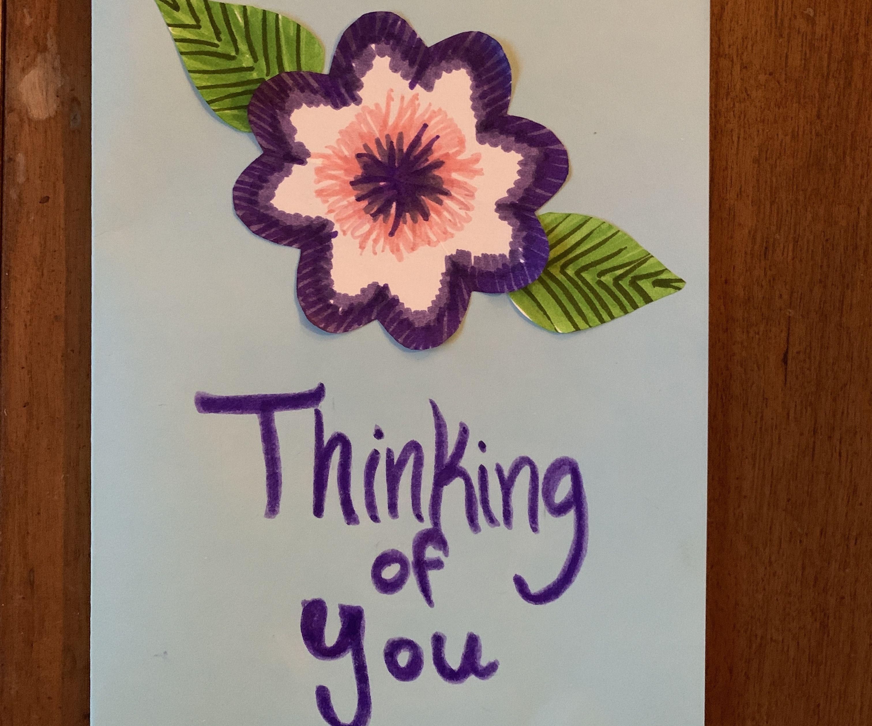 Pop-up Paper Bouquet Homemade Greeting Card